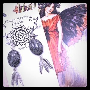 Casey Keith Design Jewelry - Feathered Crazy Lace Agate Earrings